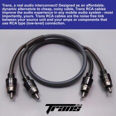 Trans Trrm-0.5m Length Rca Interconnect Cable For Car Audio Or Home Audio By Amerion.
