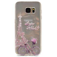 Transparent Soft TPU Slim Case Cover for Samsung Galaxy S7 - Bike and Tower
