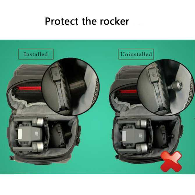 Transport Clip Controller Transmitter Protector Thumb Stick Anti-Shake Connected Rocker Joystick Holder Bracket for DJI Mavic Pro and DJI Spark