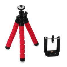 Tripod Flexible Octopus Bracket Holder Stand Mount for Cell Phone Samsung Camera Red