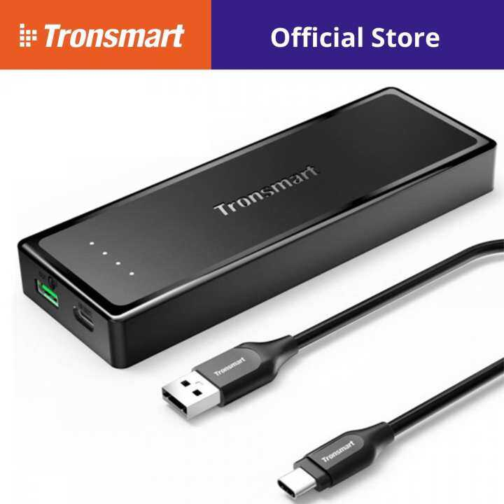 Tronsmart Presto 6A 10400mAh Qualcomm Quick charge 3.0 USB C Power Bank with USB C cable
