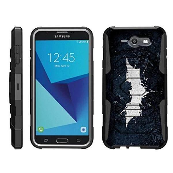 Turtlearmor Samsung Galaksi J7 2017 Case J7 V Case J7 Prime J7 Langit Pro [Penjaga Octo] Ganda Lapisan case Sarung Sabuk Klip Kokoh Stand Penyangga Sarung-Kelelawar Sinyal-Internasional