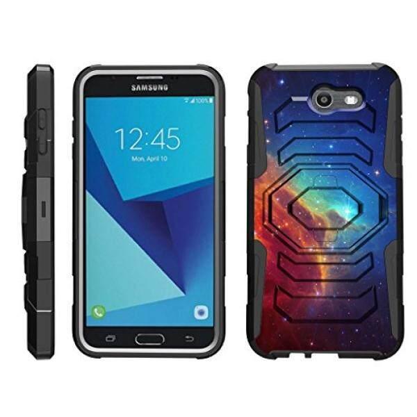 TurtleArmor Samsung Galaxy J7 2017 Case J7 V Case J7 Prime J7 Sky Pro [Octo Guard] Dual Layer Case Holster Belt Clip Sturdy Kickstand Cover - Colorful Nebula Galaxy - intl
