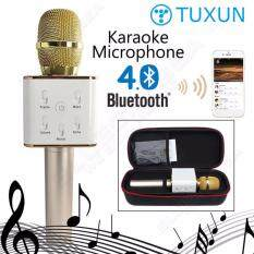 TUXUN Q7 Portable Wireless Bluetooth Speaker Microphone Mic with 2600mAh Large Capacity Battery Karaoke (100% ...