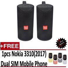 (Twin Pack)TG113 Speaker Bluetooth Wireless Speakers Waterproof Outdoor Bluetooth Speaker AUX Mp3 USB FM Radio Stereo Subwoofer Free Nokia NK3310(2017) Dual SIM Mobilephone Malaysia