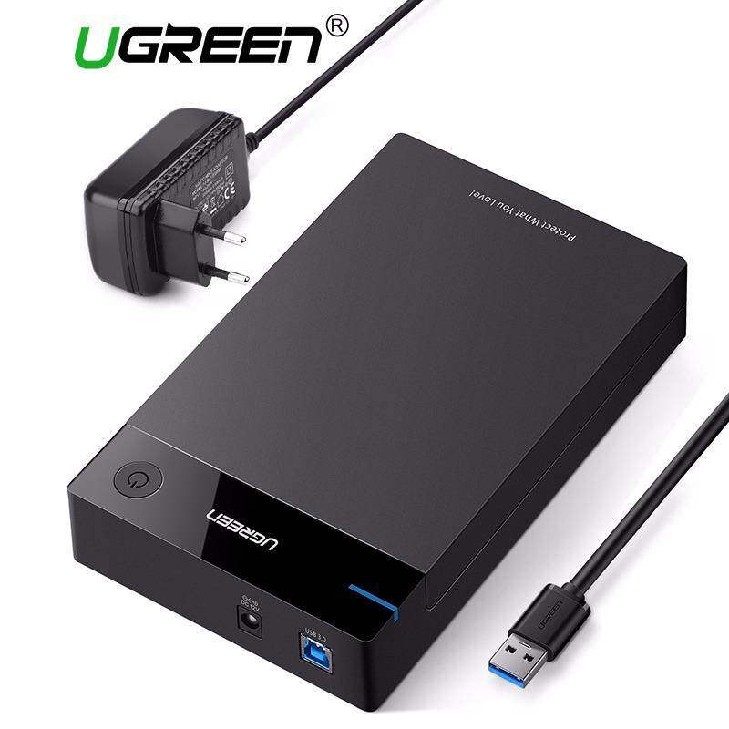 Ugreen 3 5 Inch Hdd Case Ssd Adapter Sata To Usb 3 For Samsung Hard Disk Drive Box 1Tb 2Tb 2 5 External Storage Hdd Enclosure 2Pin Eu Plug Intl Deal