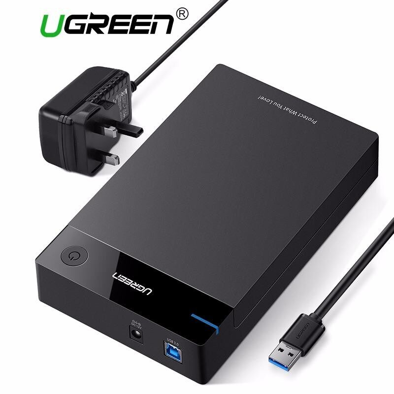 Sale Ugreen 3 5 Inch Hdd Case Ssd Adapter Sata To Usb 3 For Samsung Hard Disk Drive Box 1Tb 2Tb 2 5 External Storage Hdd Enclosure 3Pin Uk Plug Intl Ugreen On China
