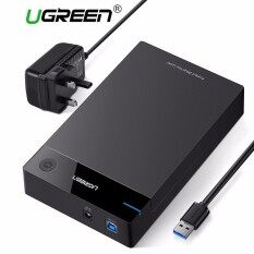 9d47d4620d9  Free 3Pin UK Plug Adapter UGREEN 3.5 inch HDD Case SSD Adapter SATA to