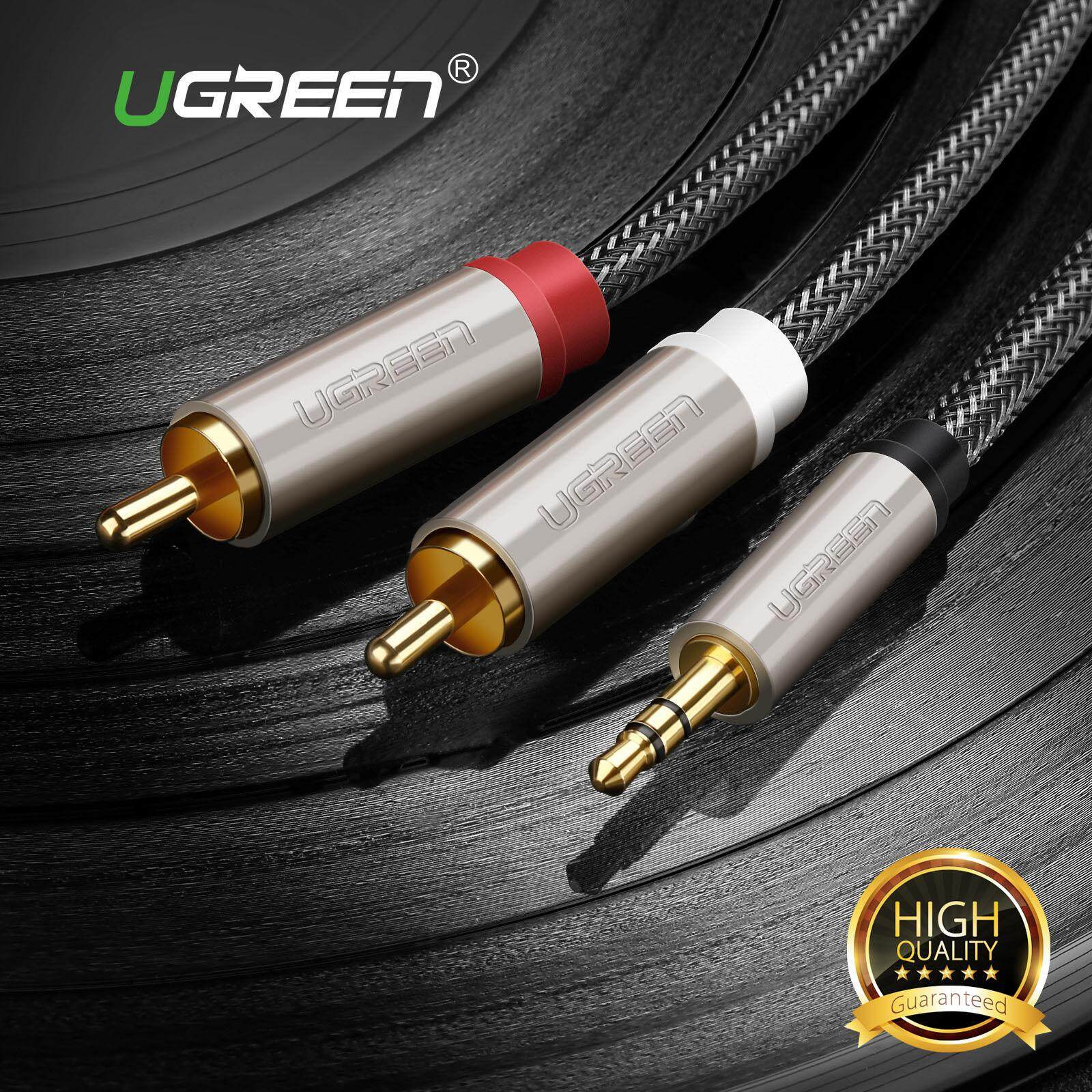 Ugreen HiFi Aux Audio 3.5mm Stereo to 2 RCA Y Cable 0.5