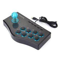 UINN 3 In 1 USB Wired Game Controller Arcade Fighting Joystick Stick Gaming Console Black -