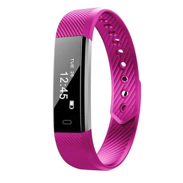 Uinn Id115 Bluetooth Smart Bracelet Heart Rate Monitor Fitness Tracker Step Counter Intl In Stock