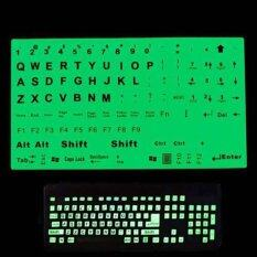 Jettingbuy UK US Keyboard Fluorescent Sticker Large Black Letters for Computer Laptop Malaysia
