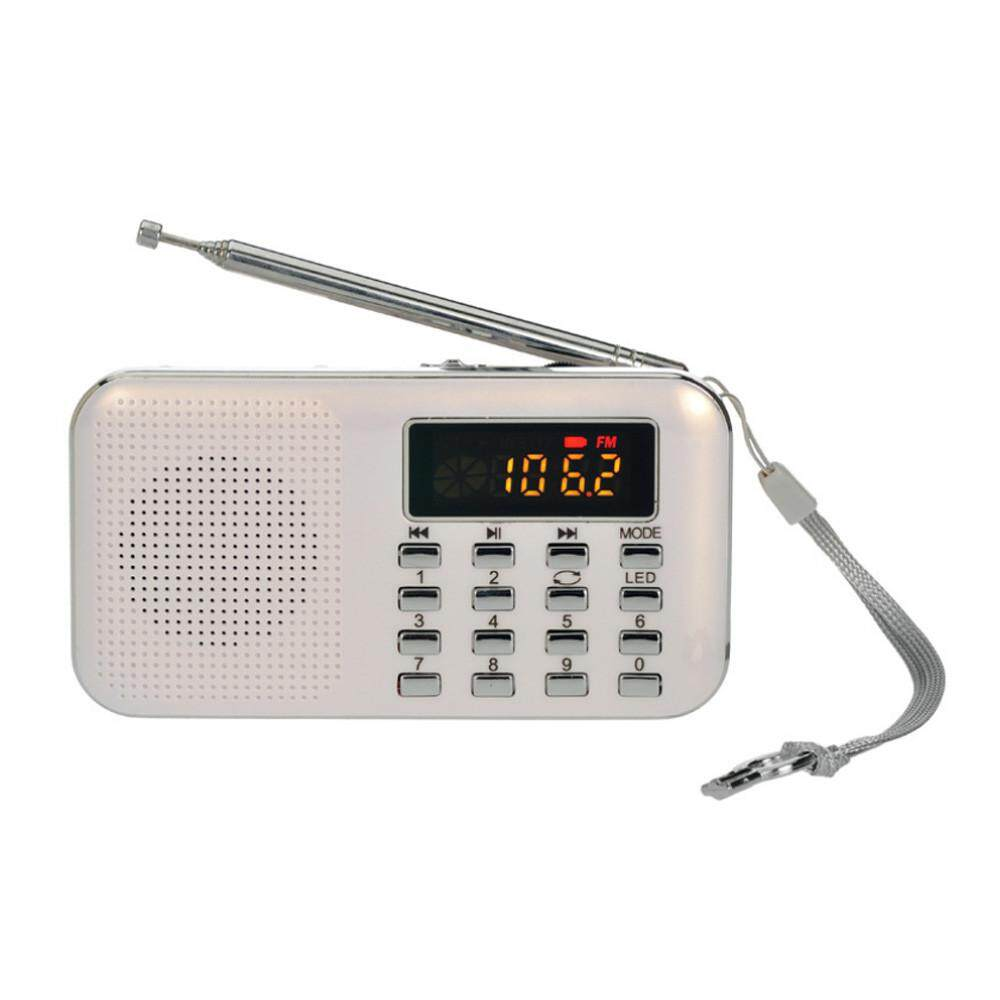 SOUTH RISE Ultra-thin FM AM Radio Digital Supper Bass Mini Speaker LCD AUX USB TF LED Light - intl