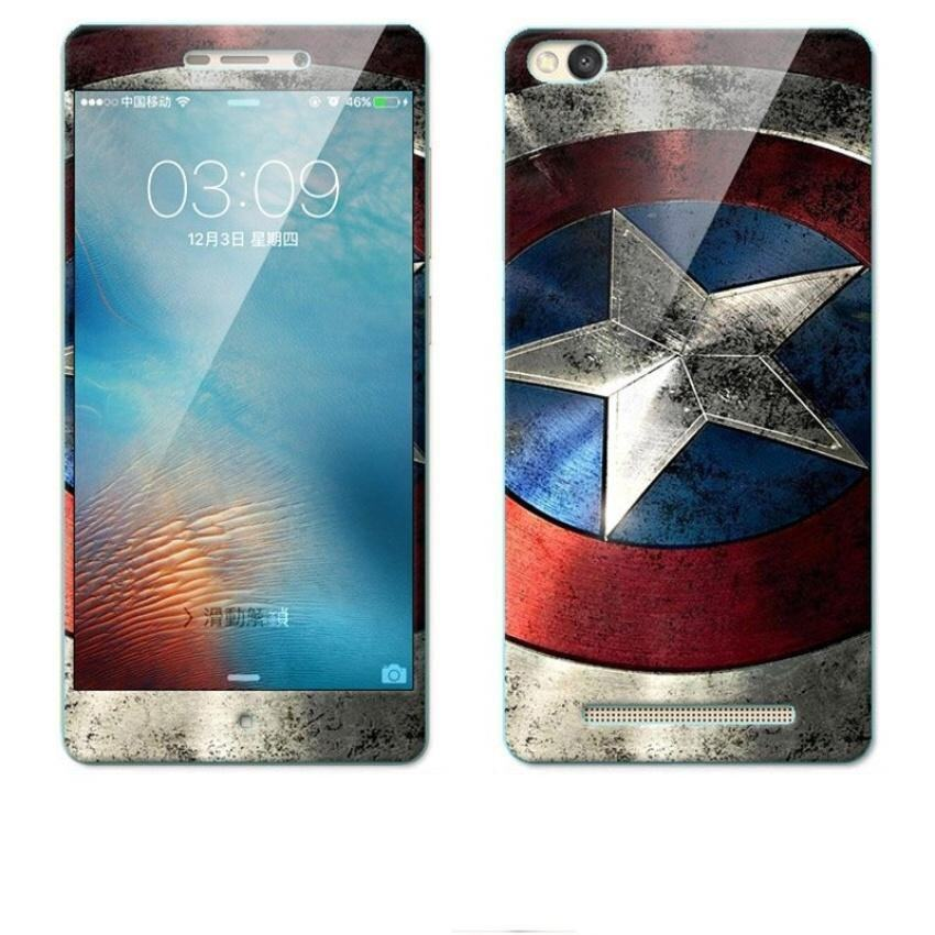 Uncle Sam Luxury 3D Painting Front+Back Full Case Cover Color Tempered Glasscase For Xiaomi