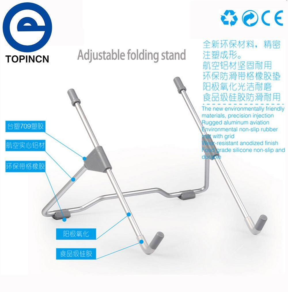 [Buy 1 Get 1 Free Gift] Universal Adjustable Portable Foldable Metal Holder Stand for PC Tablet Laptop Notebook - intl
