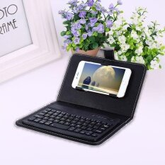 Universal Bluetooth Keyboard with PU Flip Case Cover For iOS/Android Cell Phone Malaysia