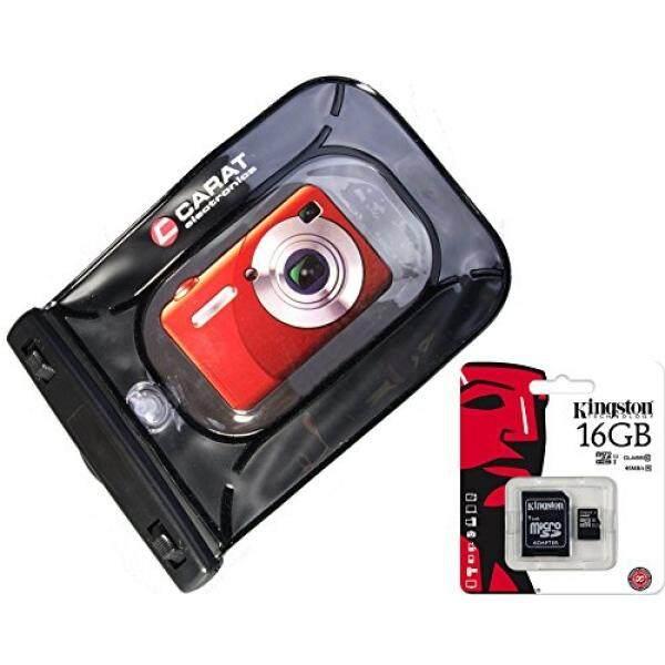 Unterwasserbeutel F? R Kamera Im Set MIT 16 GB SD Karte F? R Sony Cybershot DSC W830 WX350 WX220/Canon IXUS 285 HS 275 180 175/Panasonic Lumix DMC SZ10/Nikon COOLPIX A300 a100-Intl