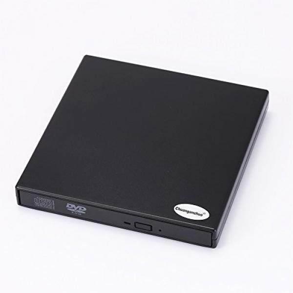 USB 2.0 Eksternal DVD Combo CD-RW Burner Drive untuk Mac jendela 2000/XP/VISTA/7/8/10, Ultra Notebook PC Komputer Meja, Pasang Dan Pakai, tidak Perlu Menginstal Driver dengan CD Driver, Hitam (CD-RW)-Intl
