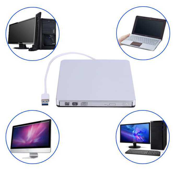 USB 3.0 External DVD/CD-RW Drive Burner Slim Portable Driver For Netbook MacBook Laptop PC