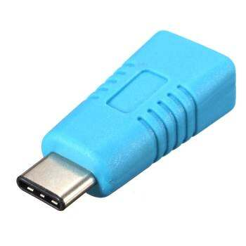 USB 3.1 Type C Male to Mini USB 5 Pin Female Adapter Converter for MacBook 12 Blue