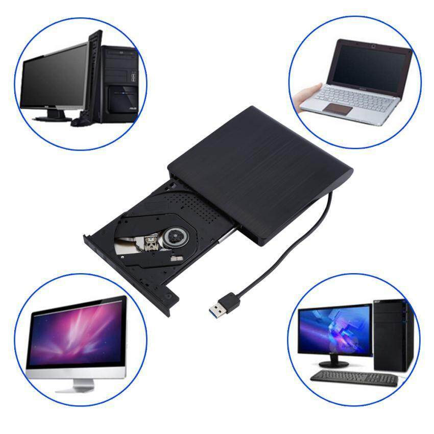 EverSky USB 3.0 External DVD/CD Drive Burner Slim Portable Driver For Notebook MacBook Laptop Desktop - intl