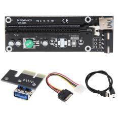 USB3.0 PCI-E PCI Express 1x to 16x Extender Riser Card Adapter SATA Power Cable Malaysia