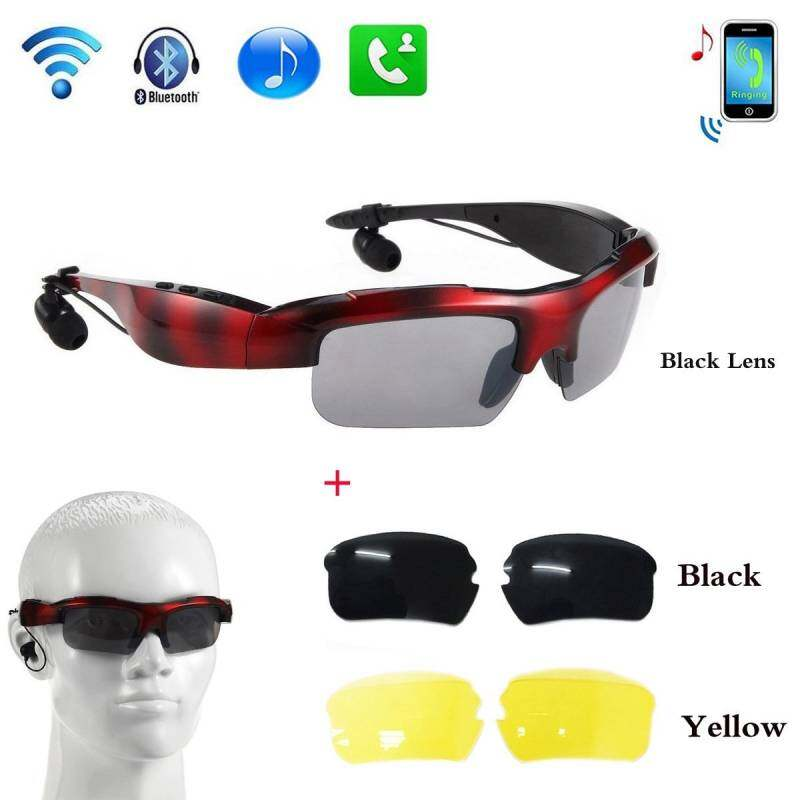 DDT-OP EverGood Wireless Bluetooth 4.0 Stereo Headset Driving Call Music Handsfree Smart Sunglasse sport Riding Eyes Glasses Smart Sunglass