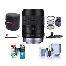 Venus Laowa 60mm F/2.8 Ultra Macro Manual Focus Lens - for Sony E-mount Nex - Bundle With 62mm Filter Kit, Lens Case, Cleaning Kit, Capleash II, Lenspen Lens Cleaner, Software Package