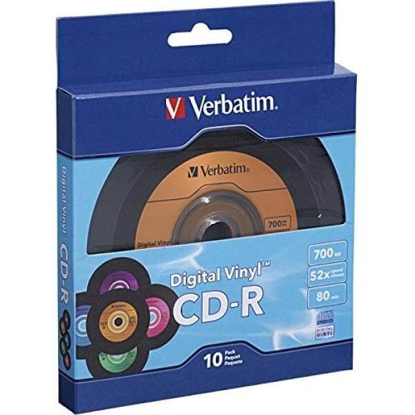 Verbatim 700MB 52X 80 Minute Digital Vinyl CD-R, 10-Disc 97935 - intl