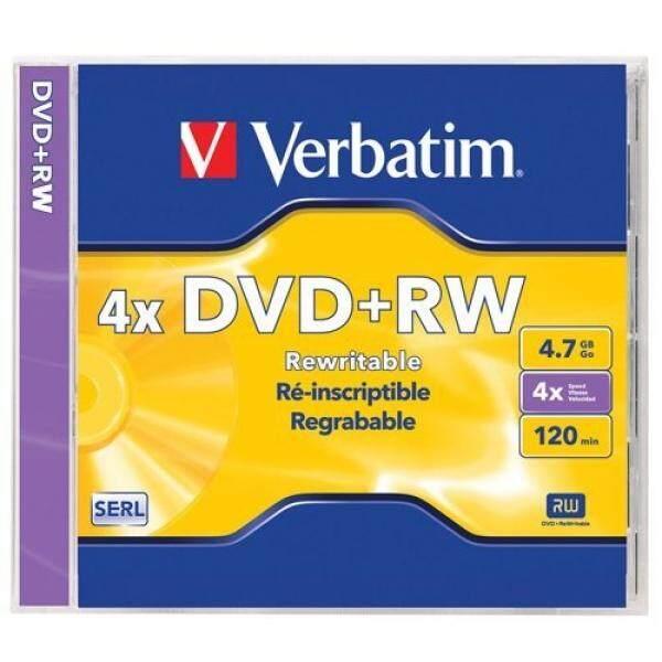 Verbatim 94520 4.7 GB 1x- 4x ReWritable Disc DVD+RW, 1-Disc Jewel Case - intl