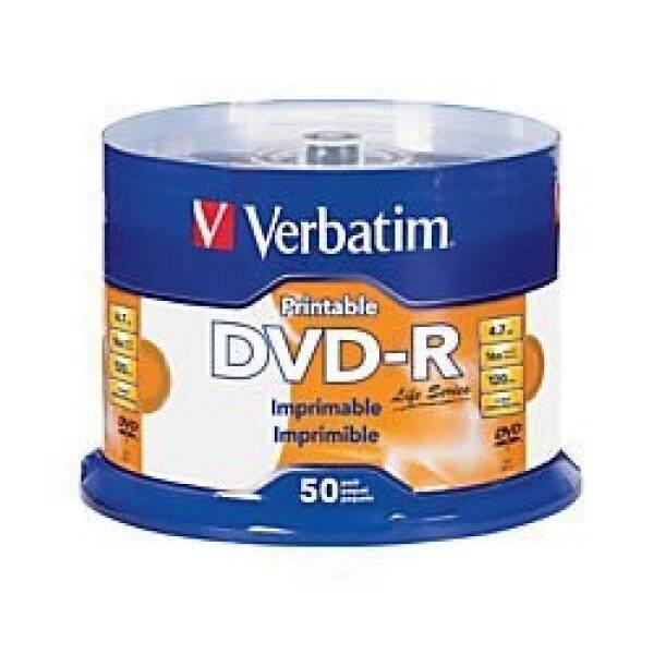 Verbatim Life Series DVD-R Printable Disc Spindle, Pack Of 50 98472 - intl