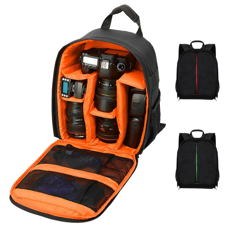 Video Foto Digital Kamera Bahu Padded Tas Tas Ransel Anti-Air Anti Guncangan Tas Kecil untuk Canon Nikon DSLR IP-00-Internasional