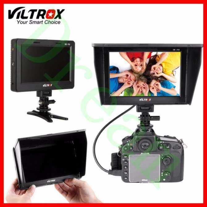 VILTROX 7 ''DC-70 II 1024X600 HD LCD HDMI AV Input Monitor Video Kamera Tampilan Monitor Lapangan untuk Canon Nik0n Kamera DSLR -Intl