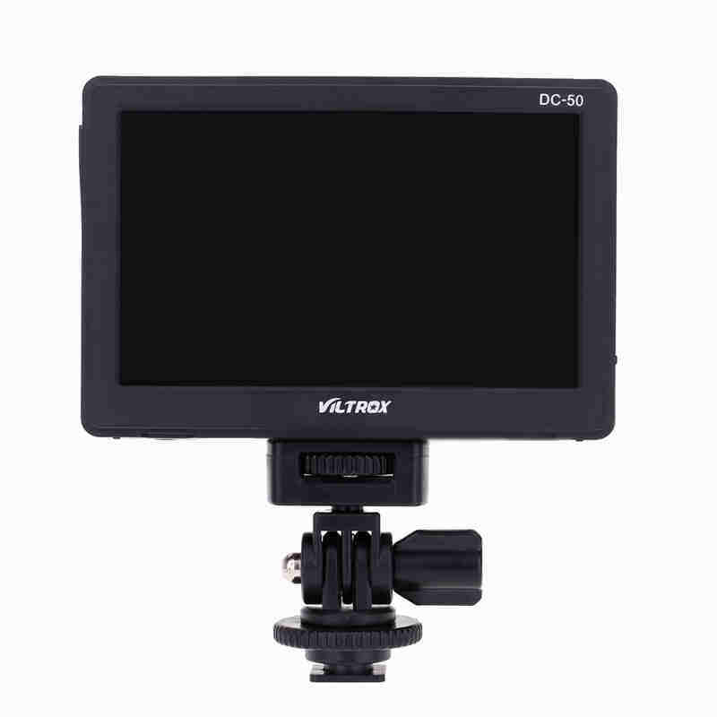 Grandshop Viltrox DC-50 HD Clip-on LCD 5'' Monitor Portable Wide View for Canon Nikon Sony DSLR Camera DV