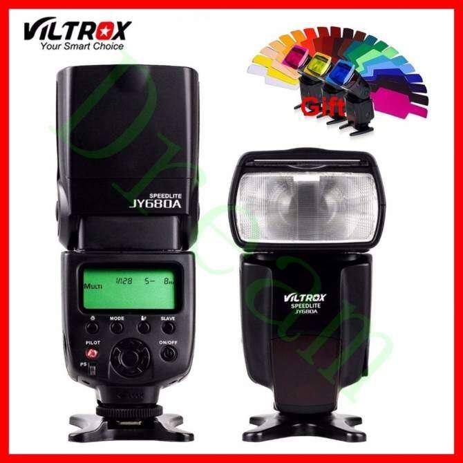 VILTROX JY-680A Universal Camera LCD Flash Speedlite for Canon EOS 1D 1DC 1DX 1Ds1D Mark III 1D 6D 7D 60D 70D t5i t4i 1300D 1200D 760D 750D 80D 5D IV 7D ...