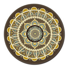 Vintage Bohemian Style Round Shape Computer Mouse Pad Mat Anti Slip For Home Office 20cm Diameter Style B By Stoneky.