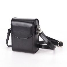 Vintage Leather Camera Case Bag For SONY RX100III RX100M3 Black