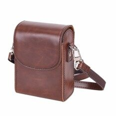 Vintage Leather Camera Case Bag For SONY RX100III RX100M3 Coffee