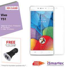 Vivo Y51 Tempered Glass Protector 0 26mm 9H Hardness HD Clear FREE