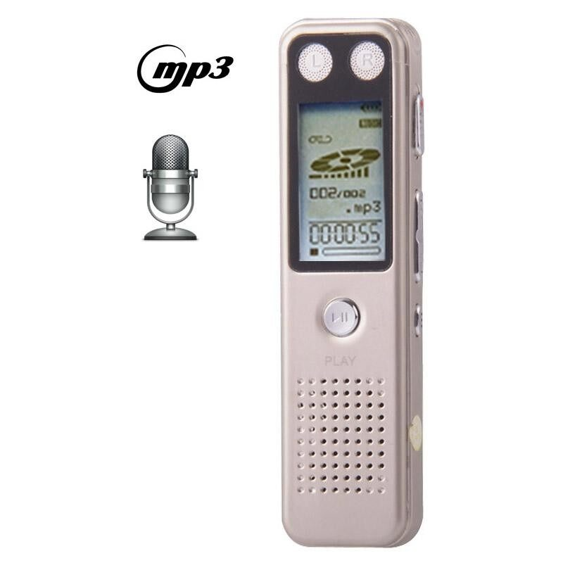 ZKYT VM30 Professional 8GB LCD Digital Voice Player MP3 Gold Gold Recorder VOR with