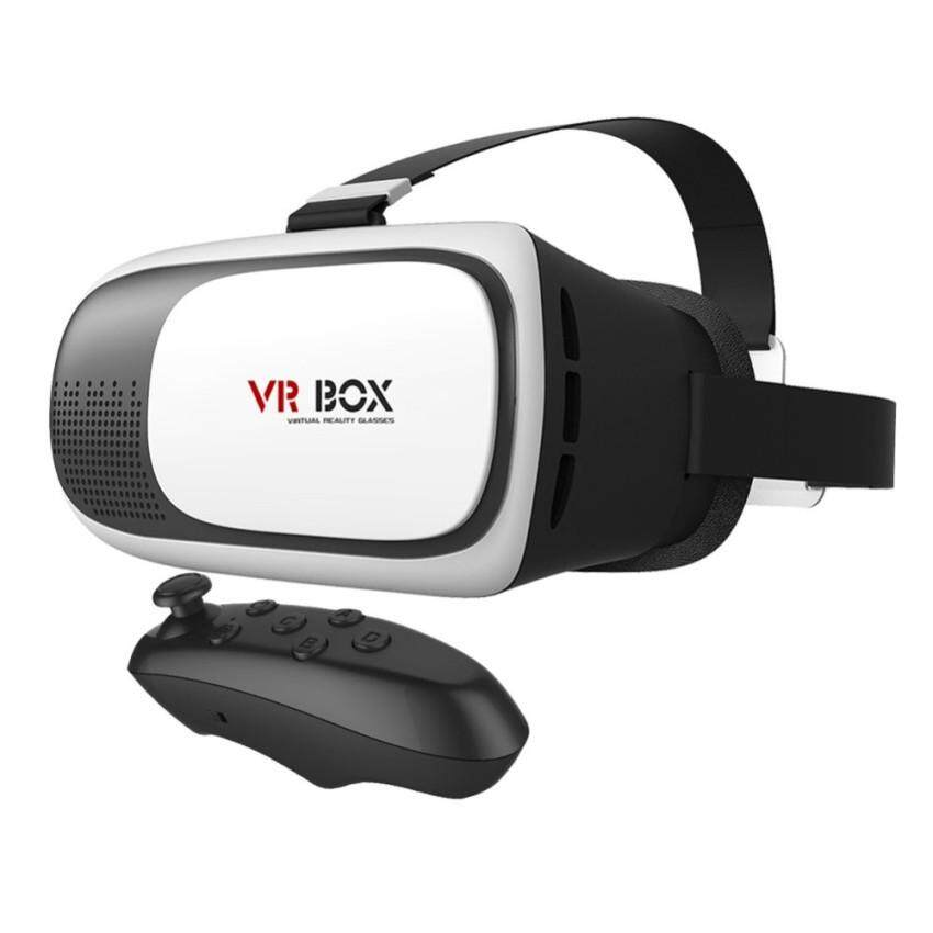 I COOH VRBOX Virtual Reality 3D Glasses Headset Version 2.0 with BluetoohRemote (BLACK) for