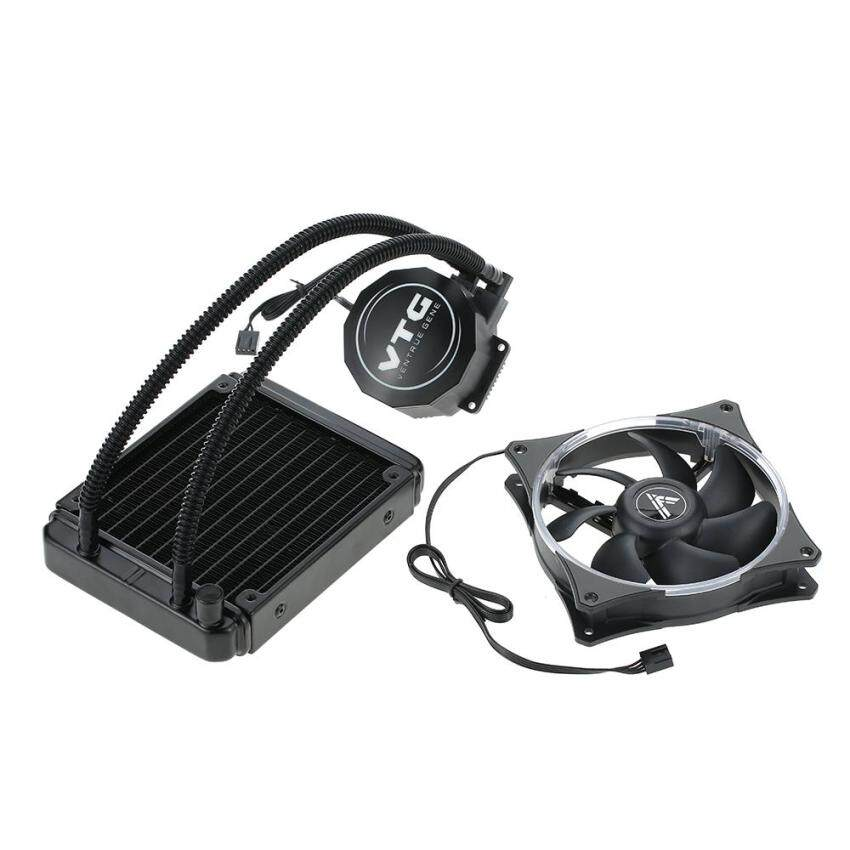 VTG120 Liquid Freezer Water Liquid Cooling System CPU Cooler FluidDynamic Bearing 120mm Fan with Blue LED Light