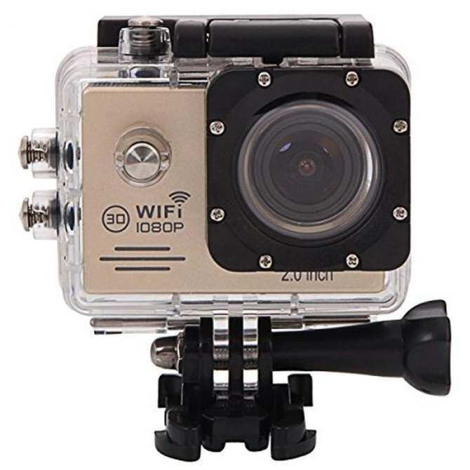 "VVGCAM Wifi Sports  Action Camcorder SJ7000 Full HD 1080P 2.0"" Waterproof Mini Sports Camera(Gold)"