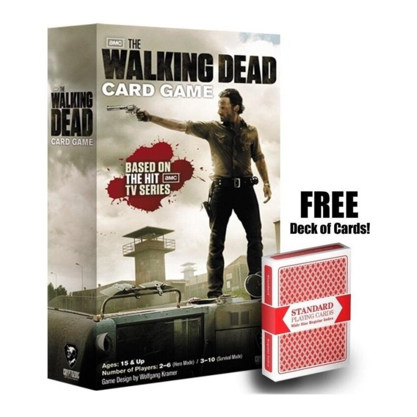 Walking Dead Card Game w/ Free Deck of Playing Cards - intl