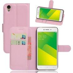 Wallet Flip Leather Case For Oppo A37 / Oppo Neo9 (Pink)