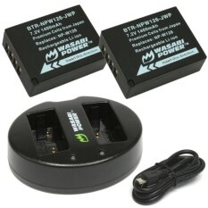 Wasabi Power Battery (2-Pack) And Dual Charger For Fuji X-T2 (np-W126) By Cameralah.