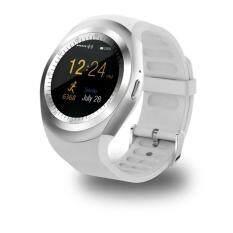 Tahan Air Bluetooth Smart Jam Tangan dengan Kartu SIM Beberapa Fungsi Yang Kuat untuk Ponsel Pintar Android Samsung HTC Sony LG Huawei Lenovo dan iPhone Warna: Putih