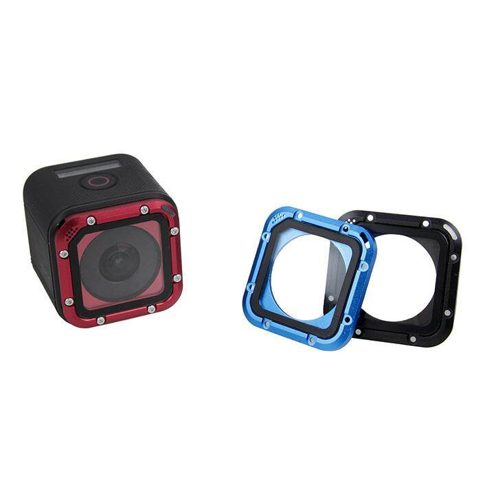Waterproof Case Lens Cap Aluminum Frame Len Filter Cover For Go Pro Hero 4 Session Action Camera Accessories - intl