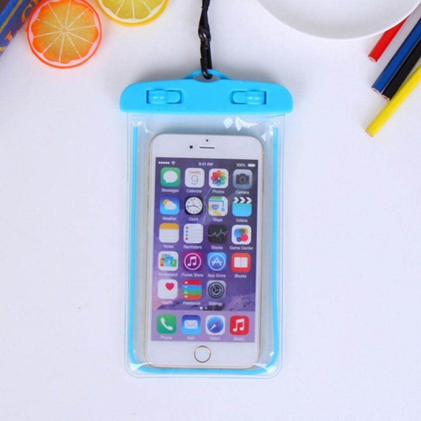 RUI HE Waterproof Case. Mobile Waterproof Bag. Fluorescence Cellphone Dry Bag Pouch for iPhone 7 6s 6 Plus . VIVO X9 Plus. One Plus 5.g - intl