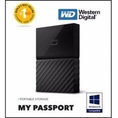 WD Western Digital 1TB / 2TB / 4TB HDD My Passport Portable Storage  External Hard Disk Drive (Black)